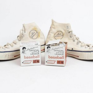 Boston Red Sox - Ted Williams Endorsed Sears Brand Items Incl. Pair of Sneaker Shoes & (2) Little League Baseballs w/Original Boxes