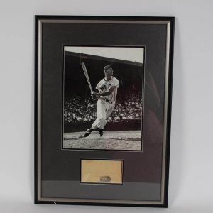 Boston Red Sox - Ted Williams Original Brearley Collection 11x14 Photo (Embossed with Seal) & Signed Post Card in 18x25 Display