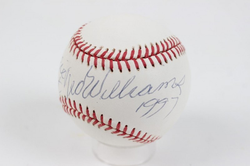 "Boston Red Sox - Ted Williams Signed & Dated ""1997"" OAL (Brown) Baseball (Pers.)"