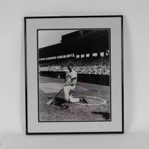 Boston Red Sox - Ted Williams Signed 16x20 B&W Photo Display