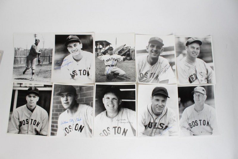 Red Sox Signed 8x10 B&W Photos (10)  Wagner,Shore,Ferrell etc. - JSA