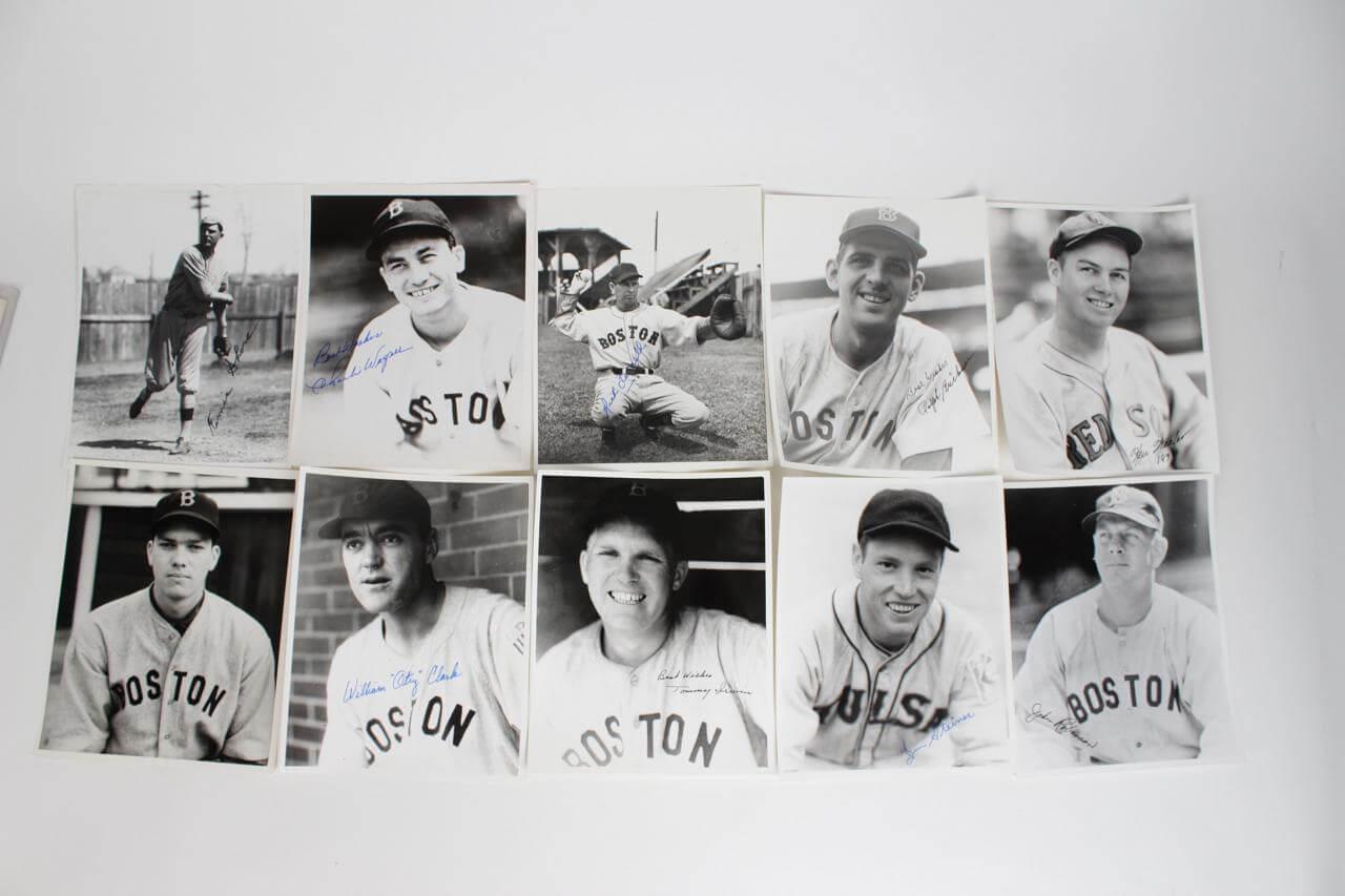 Boston Red Sox Signed Photos (10) - COA JSA
