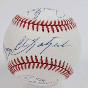 Boston Red Sox Signed OAL (Brown) Baseball Ted Williams