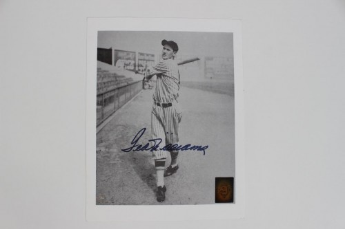 Boston Red Sox Ted Williams Signed 8x10 Photo