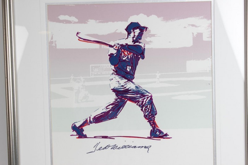 Red Sox- Ted Williams Signed Carlos Beninati LE 139/209 Silver Print - JSA