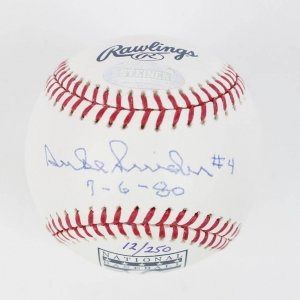 "Brooklyn Los Angeles Dodgers - Duke Snider Signed & Inscribed Retired Jersey Number Date ""7/6/80"" OML HOF Baseball (Steiner Hologram)"