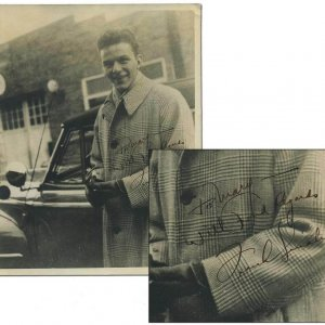 "Early Frank Sinatra Signed & Inscribed "" With Best Regards"" Vintage  8x10 Sepia Tone Photograph (from Babysitter)"