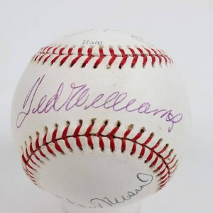 Hall of Fame Multi-Signed Baseball feat. Ted Williams