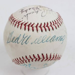 Hall of Famers & Stars Multi-Signed Baseball Incl. 13 Sigs. Incl. Ted Williams
