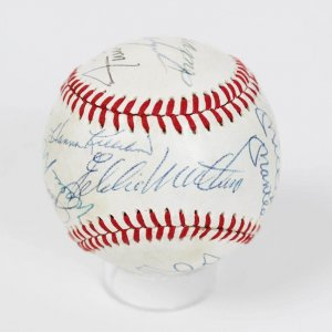 HOFer Multi-Signed OAL (MacPhail) Baseball - 13 Sigs. Incl. Mickey Mantle
