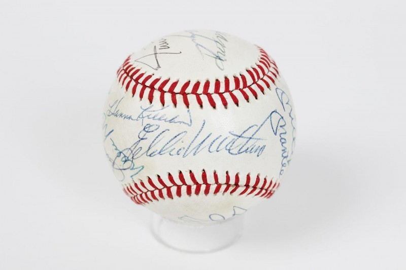 HOFer Multi-Signed OAL (MacPhail) Baseball - 13 Sigs. Incl. Mickey Mantle, Joe DiMaggio, Ted Williams etc.
