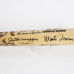Joe Cronin Model Bat Signed By 13  Ted Williams