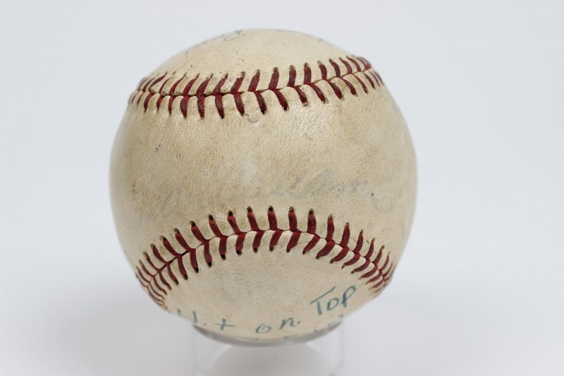 June 29, 1958 - Boston Red Sox - Ted Williams 467th  Home Run Hit Game-Used Baseball (Letter Of Provenance) Pete Runnels Family