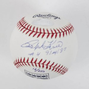 "Pittsburgh Pirates - Ralph Kiner Signed & Inscribed ""#4 - 9/19/87"" (Jersey #4 Retirement) HOF OML Baseball"