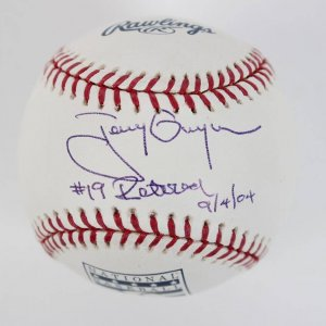 San Diego Padres - Tony Gwynn Signed & Inscribed Retired Jersey HOF OML Baseball