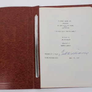 TED WILLIAMS 1957 SIGNED TELEVISION SCRIPT