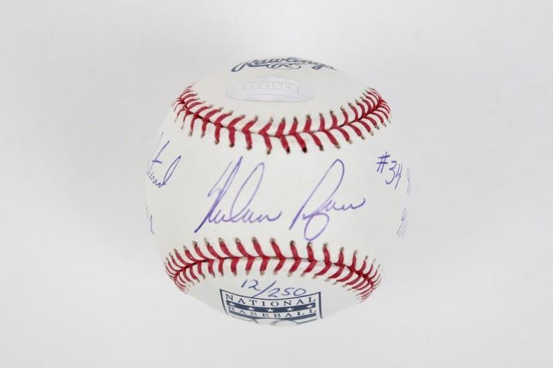 Houston Astros - Nolan Ryan Signed & Inscribed HOF Baseball - COA Steiner