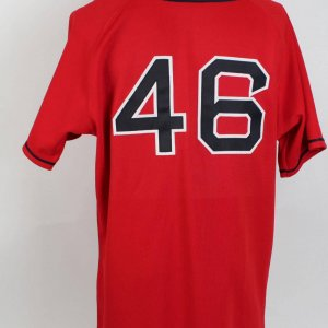 Boston Red Sox #46 Game-Worn Red Jersey