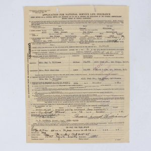 """1942 Boston Red Sox - Ted Williams Full Name Signed """"Theodore S. Williams"""" Life Insurance Document"""