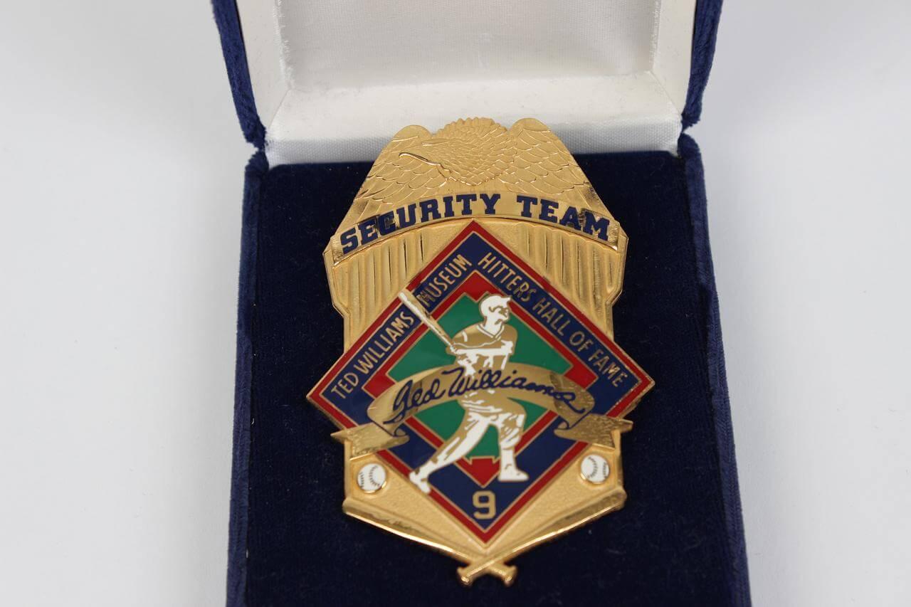 Ted Williams Hitters HOF Security Badge