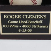 2003 Red Sox- Roger Clemens Game-Used, Signed & Inscribed Baseball- TriStar/MLB