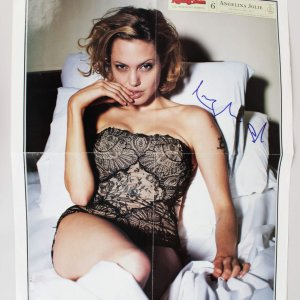 1999 Rolling Stone Angelina Jolie Signed The Devil in Miss Jolie 18x22 Poster