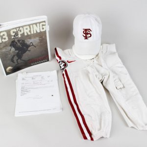 2013 BCS National Champions Florida State Seminoles - Jameis Winston Pre-Game Field Game-Worn Pants, Playbook & Hat Cap (Incl. Provenance LOA)