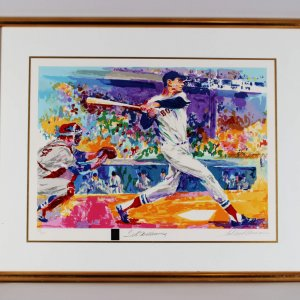 Boston Red Sox Ted Williams Signed 24x31 Limited Edition #84/270 Litho by LeRoy Neiman