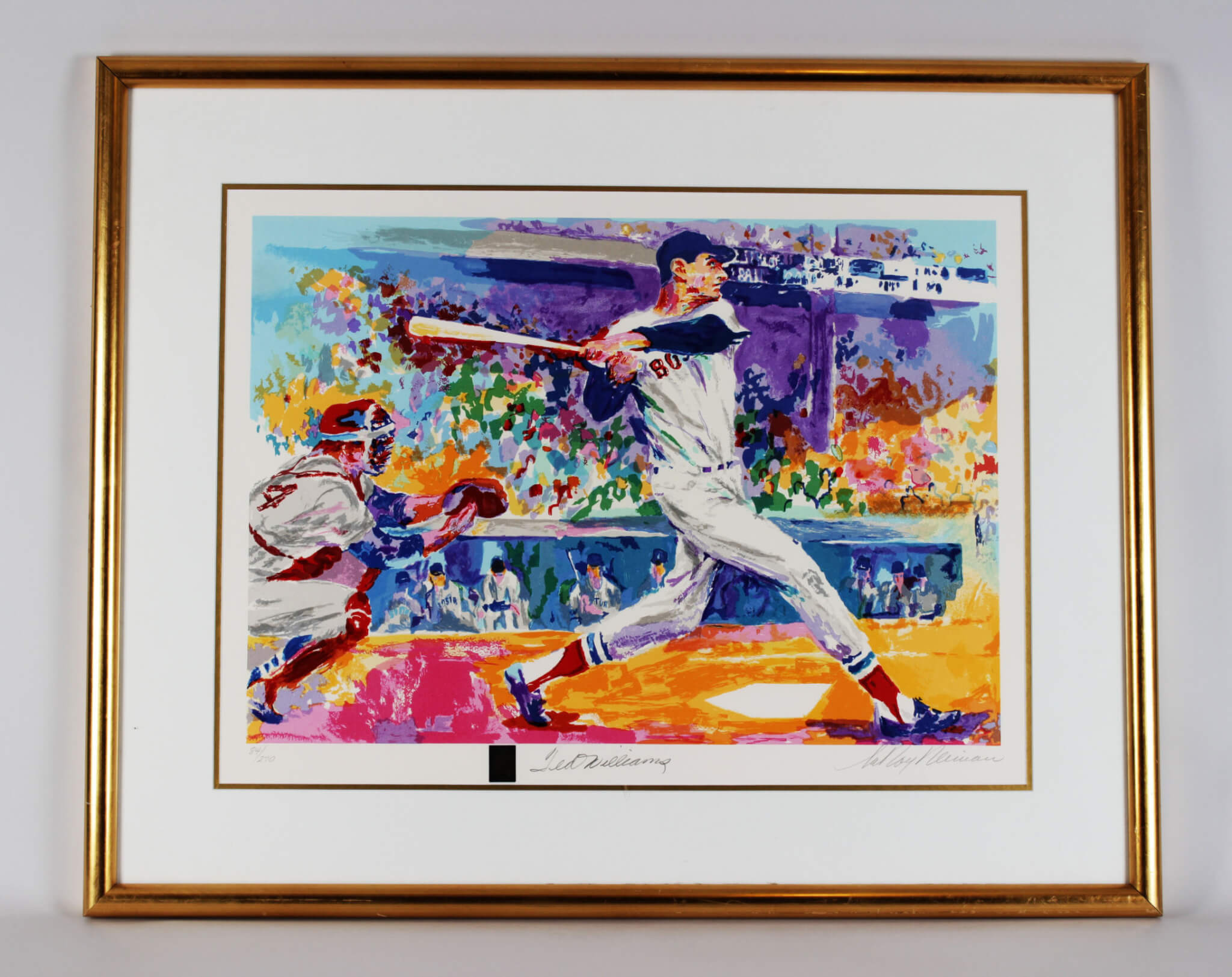 Boston Red Sox - Ted Williams Serigraph (LE 84/270 - 24x31) Signed by Williams & Artist LeRoy Neiman