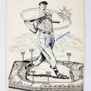1959 Boston Red Sox Ted Williams Signed 11x15 Vintage Piece
