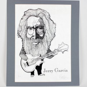 Grateful Dead Jerry Garcia 18x24 Print Signed by Artisit A/P