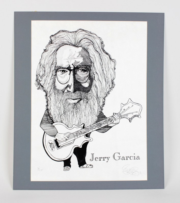 Grateful Dead - Jerry Garcia 18x24 Artist Proof Print Signed by Artist Ramsess 1/2 AP