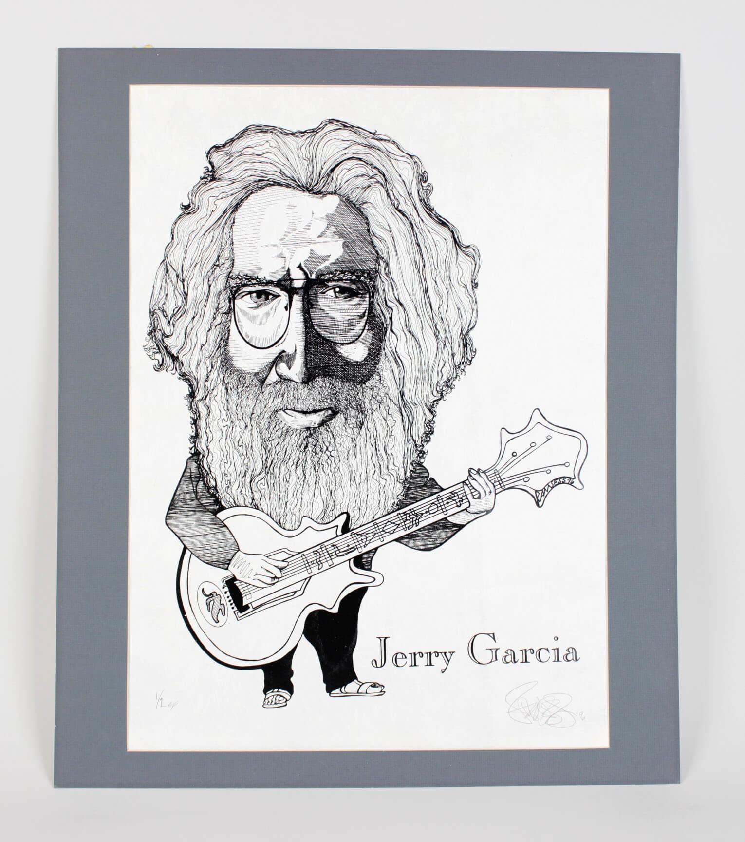 Grateful Dead - Jerry Garcia 18x24 Artist Proof Print Signed by Artist Ramsess 1/2 AP