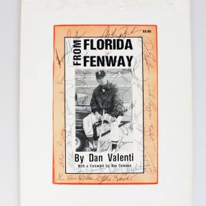 "Boston Red Sox Team Signed ""From Florida to Fenway"" Book Cover- 27 Sigs. Williams etc."
