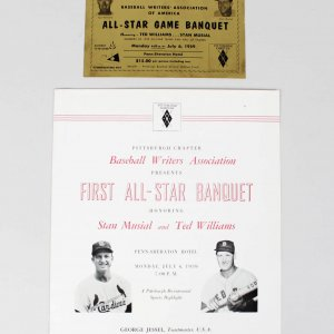 Boston Red Sox Ted Williams Signed 8x10 All-Star Game Banquet Program