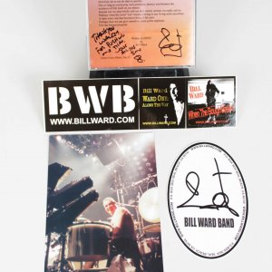 "Black Sabbath - Bill Ward Signed Solo Single ""Straws"" CD & Promo Ads - COA"