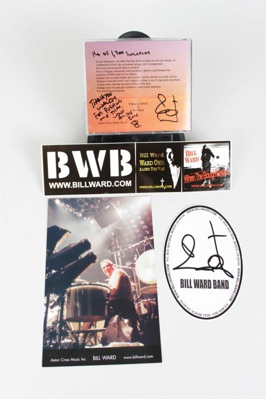 """Black Sabbath - Bill Ward Signed Solo Single """"Straws"""" CD & Promo Ads - COA"""