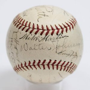 1934 All-Star Team-Signed Baseball 23 Sigs. Incl. Babe Ruth