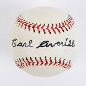 Rare Earl Averill  Single-Signed  JoeBerr & Sons Official League Baseball