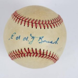 Cincinnati Reds - Edd Roush Single-Signed ONL Baseball - JSA Full LOA