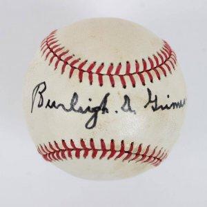 Burleigh Grimes Single-Signed ONL (Feeney ) Rawlings Baseball