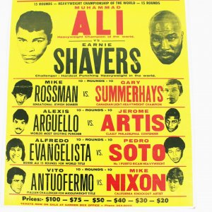 Ali vs Shavers Thurs Sept 29 Madison Square Garden 23 x 29 On Signt Poster