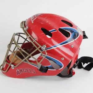 "2004 Anaheim Angels - Bengie Molina ""Big Money"" Game-Worn Used Hockey Style Catcher Mask"