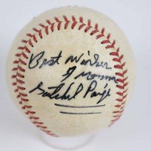 Negro Leagues HOFer - Cleveland Indians - Satchel Paige Single-Signed