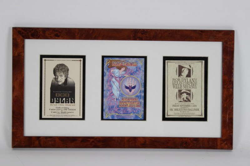 Trio of Concert Handbills Promo Handouts Incl. (2) Bob Dylan (incl. One feat. Willie Nelson & The Black Crowes 12x23 Display