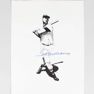 Boston Red Sox Ted Williams Signed 8x10 Photo Print