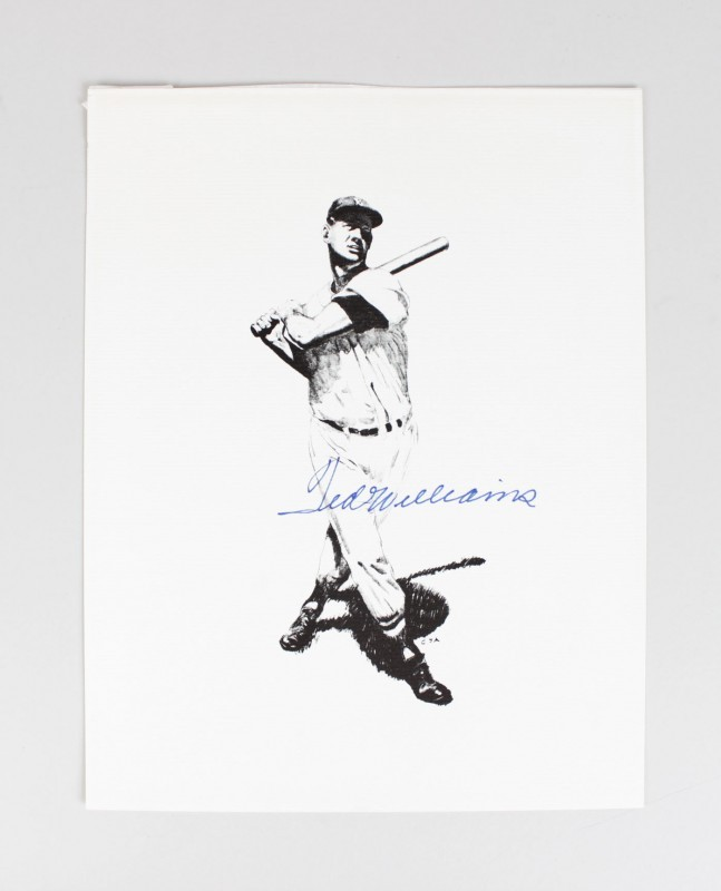 Boston Red Sox - Ted Williams Signed 8x10 Photo Print - JSA