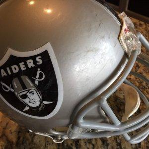 Raiders Game used helmet