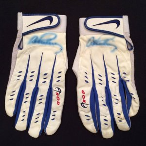 Alex Rodriguez Signed Game Used Texas Rangers #3 Nike Batting Gloves with Arod Signed LOA