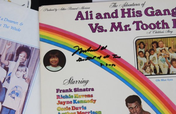 """Boxing Legend - Muhammad Ali - Autographed, Signed & Inscribed - """"Greatest of All Time 7-5-92"""" """"Ali and His Gang Vs. Mr. Tooth Decay"""" Album"""